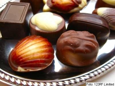 Valentinovo, čokolada, bonbon, bonboniera