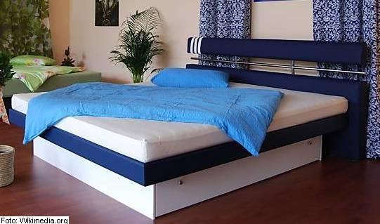 vodna postelja, spanje